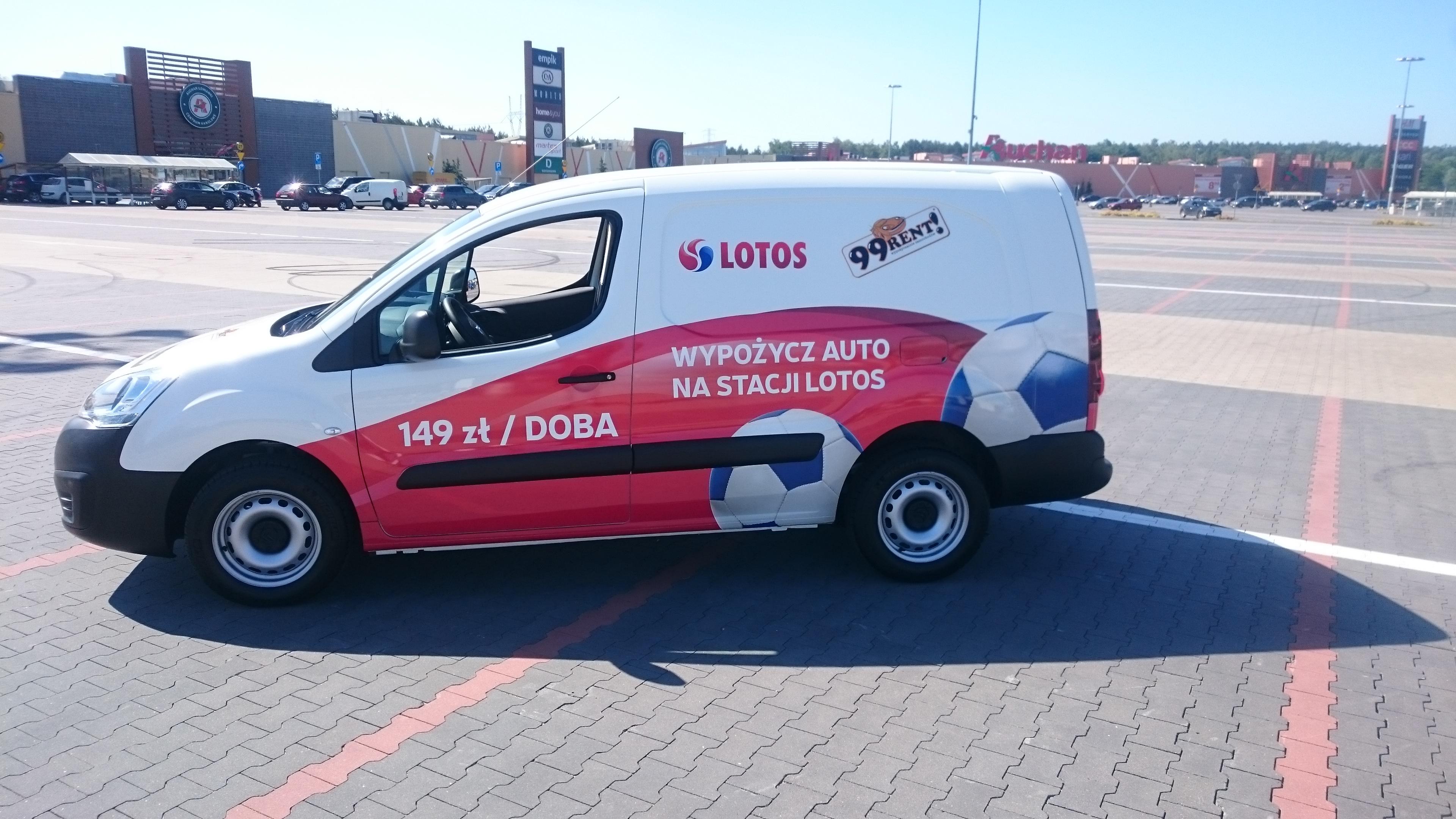 Bardzo dobryFantastyczny Wynajem aut 99RENT na stacjach LOTOS - Grupa LOTOS S.A. HH75