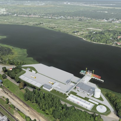 The small-scale LNG terminal in Gdańsk - visualizations