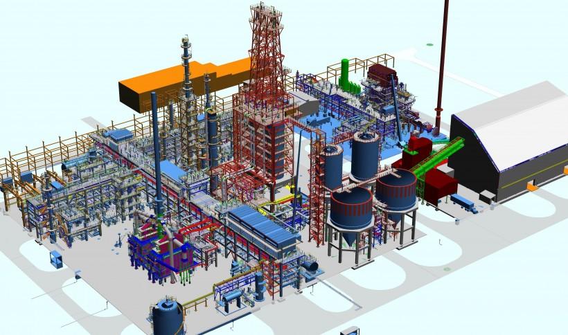 Schemat 3D Kompleksu Koksowania